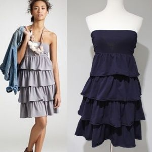 J. Crew | Gabriella Dress Ruffle Tiered Strapless
